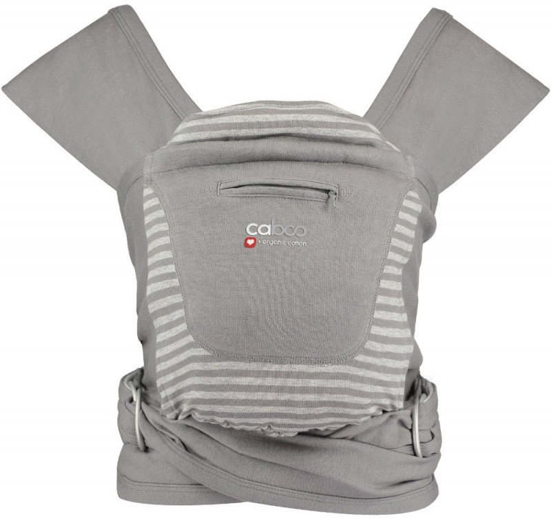 Caboo Baby Carrier Organic Steel Marl Stripe