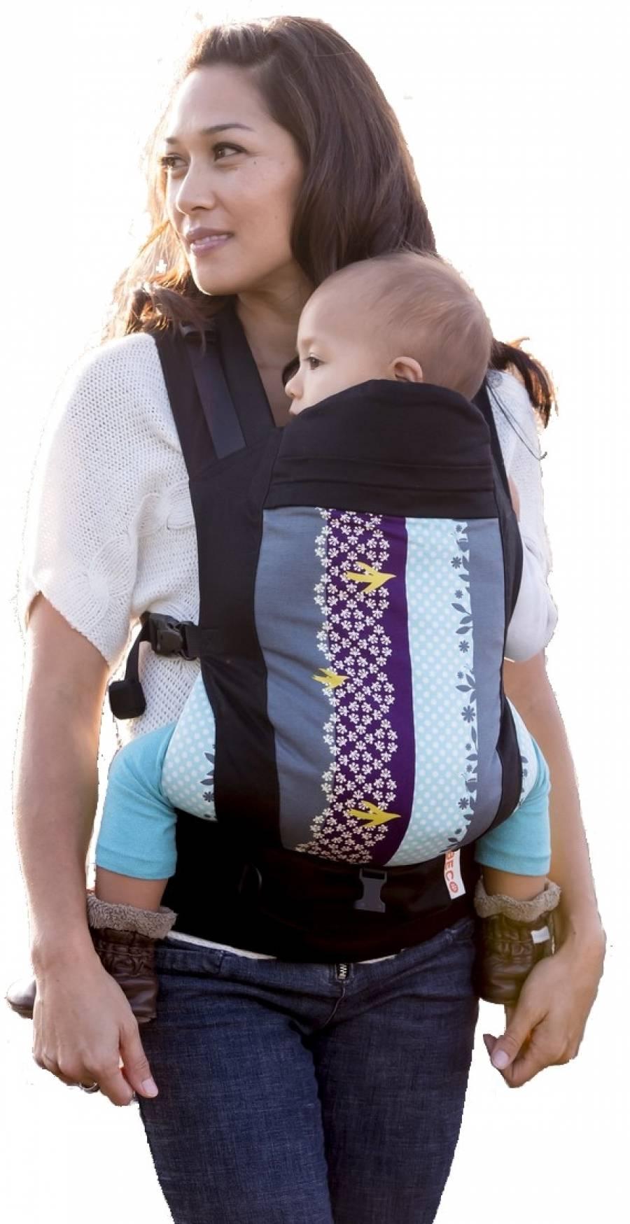 Soleil Baby Carrier (ab Geburt mit Zubehör Säuglingseinsatz, ab ca. 6 Monate -ohne-) *Luca Black*