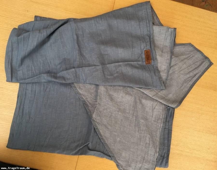 Demomodell Tragetuch jeansblau, stonewashed, size 6 von ByKay