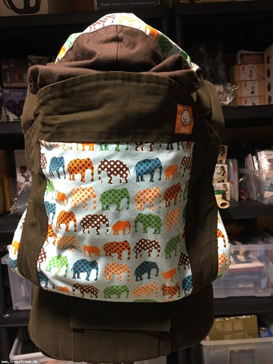 Tuli Baby Carrier Urban Elephants